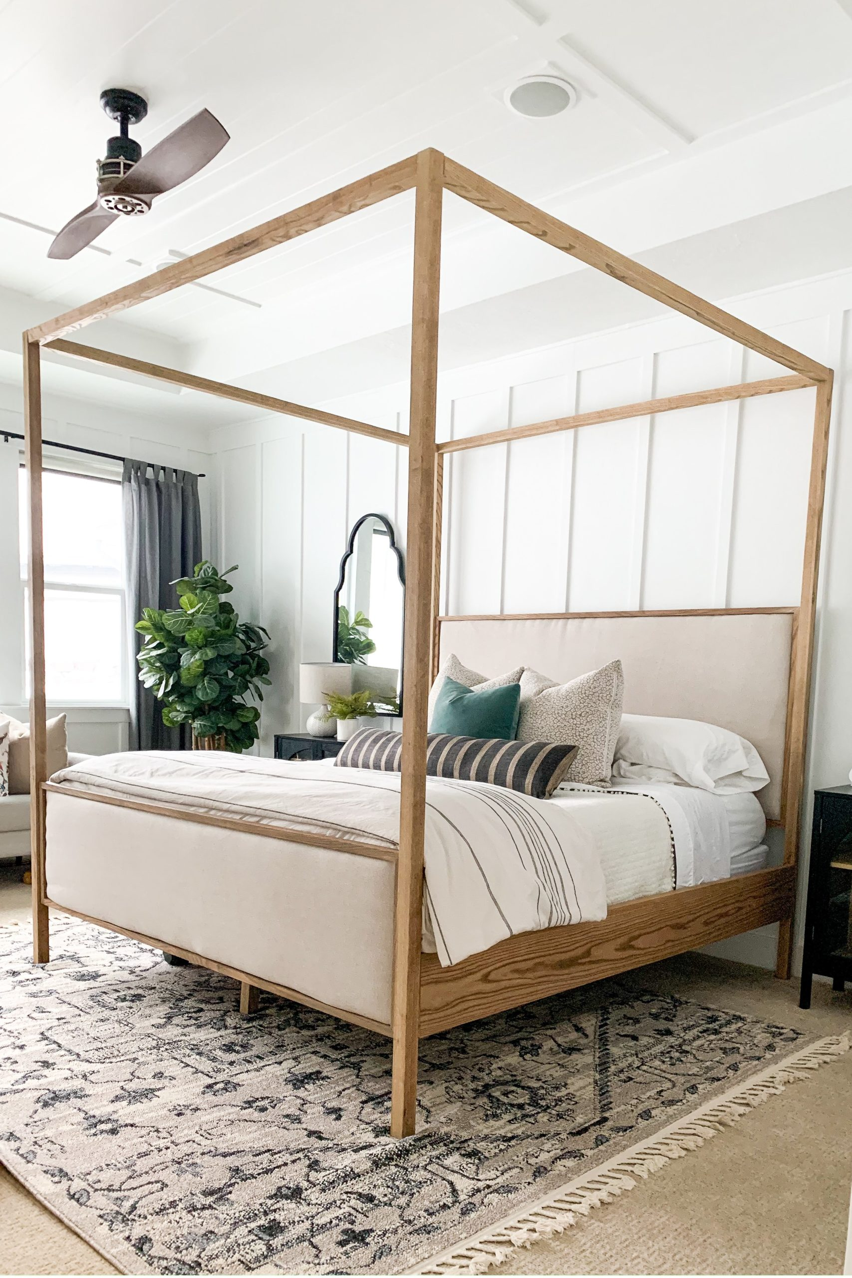 How To Build An Upholstered Canopy King Bed Honey Built Home