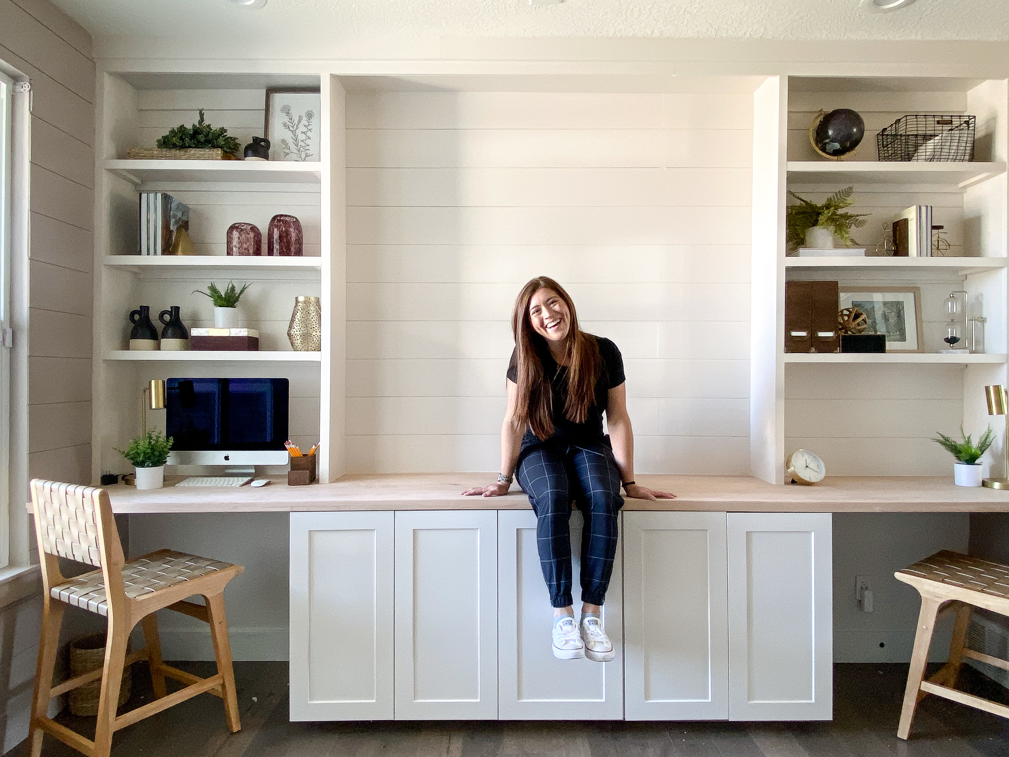 Build Office Builtins with IKEA Cabinets   Honey Built Home